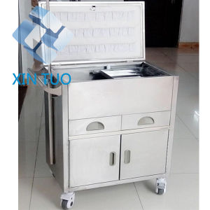 Hospital Medical Anesthesia Trolley Cart with Drawers pictures & photos