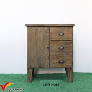 Fir 1 Door 3 Drawers Small Antique Sideboard Cabinet