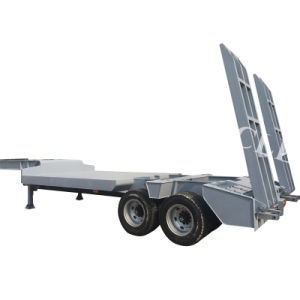 45t Lowbed/ Lowdeck Lowbody Low Platform Cargo Truck Semi Trailer pictures & photos