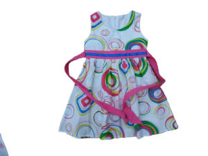 Fashion Solid Color Girl Dress in Popular Children Clothing (SQD-132)
