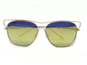 Latest Designer Style Top Quality Metal Frame Mirrored Cheap Sunglasses pictures & photos