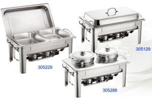 Rectangular Full Size Stainless Steel Chafing Dish Set for Buffet&Restaurant pictures & photos