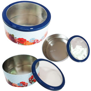 Butter Cookies Metal Tin Box with Customized Size