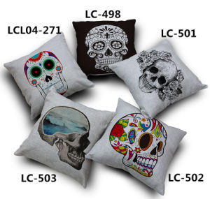 Decorative Faux Linen Transfer Print Cushion Fashion Pillow pictures & photos