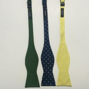 The Latest Fashionable Dotty Design Woven Silk Self Bow Ties pictures & photos