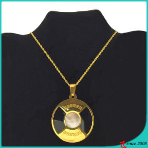 Large Gold Stainless Steel Plate Necklace for Man (FN16040907)
