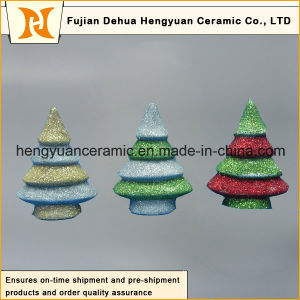 Tree Shape Ceramic Pendants for Christmas Gift pictures & photos