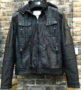 Fashion New Men Hoodie PU Leather Jacket St1604 pictures & photos