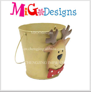Cute Pink Pig Metal Animal Planter 2016 Best Selling pictures & photos