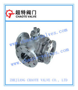 API 6D Cast Steel L-Pattern Three-Way Ball Valve (Q44F)