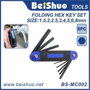 8 in 1 Composite Construction Folding Hex Key Set pictures & photos