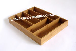 Bamboo Drawer Flatware Cutlery Box Tray Organizers Storage Hb124 pictures & photos