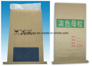 BOPP Film-Laminated PP Woven Kraft Paper Bag for Mineral pictures & photos