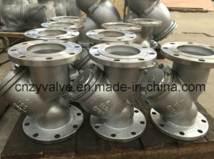 "API/DIN/JIS Class150 Cast Steel A216 Wcb 10"" Dn250 Y Strainer pictures & photos"
