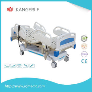 Fast Delivery Manual ABS/Steel Five Function Medical Bed Hospital Bed
