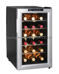 Glass Door Wine Cooler with Semi Conductor pictures & photos