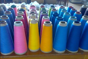 100% Polyester Dyed Spun Yarn -Color