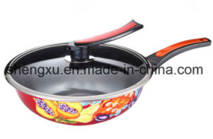 Applique Coated Ceramic Pure Iron Non-Stick Gift Wok Sx-C003
