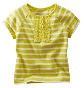 Striped Lace Top Girl′s Shirt Kid′s T-Shirt Tops G31