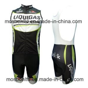 2016 Cycling Vest and Bib Shorts Set Black Edtion pictures & photos