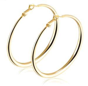 Hot Hoop Earrings Smooth Circle Basketball Brincos Celebrity Brand Loop For Women