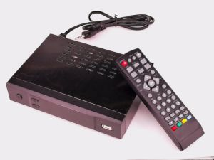 HD DVB-T2 H. 265 TV Receiver with RJ45 and Supports IPTV pictures & photos