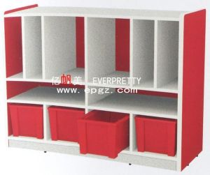 China Nursery School Furniture Kid′s Wooden Bookcase (SF-09W) pictures & photos
