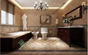 Oak Style Melamine Chipboard Double Sink Bathroom Vanity Cabinets