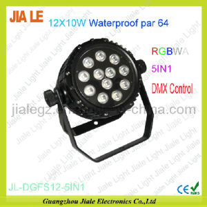 12x10W RGBWA 5in1 Multi Color LED Waterproof PAR 64 Outdoor Light Stage Equipment