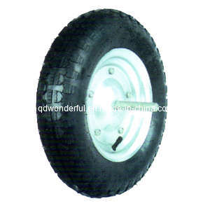 "Rubber Wheel / Pneumatic Wheel for Wheelbarrow (14"" X 3.50-8)"