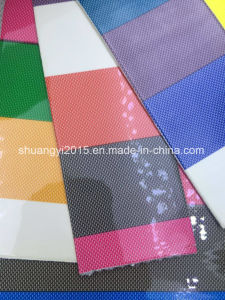 India Stripe Pattern PU Leather for Bags pictures & photos