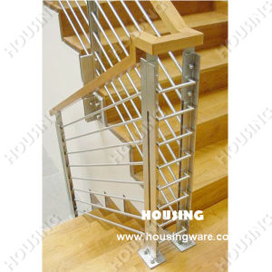 Simple But Strong Rod Railing with Wooden Handrail - 3