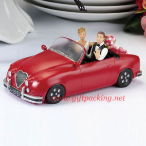 China Honeymoon Bound Couple In Car Resin Figurine Cake Topper