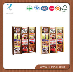 Wooden 12 Pocket Wall Display with Clear Front Panels pictures & photos
