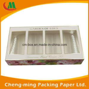 PVC Window Paper Cosmetic Gift Set Packaging Box