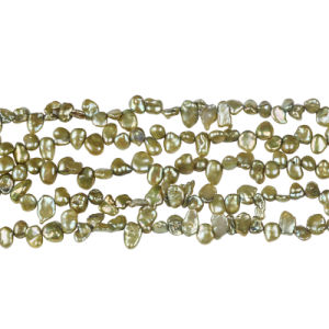 "Green Color Keshi Pearl in 16"" Strand Wholesale pictures & photos"