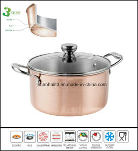 Tri-Ply Body Copper Casserole Kitchenware Cookware pictures & photos
