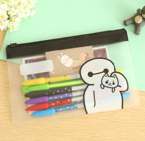 Creative PVC Transparent Small Pencil Bag Students Simple Stationery Bag