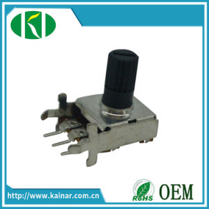 B10k 50k 100k Rotary Potentiometer with Insulated Shaft Wh123-2 pictures & photos