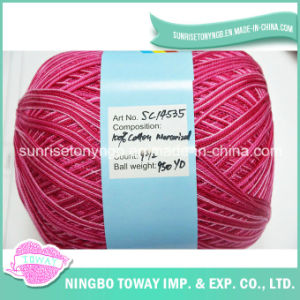 100% Cotton Mercerized Crochet Thread Knitting Wool Yarn on Ball pictures & photos