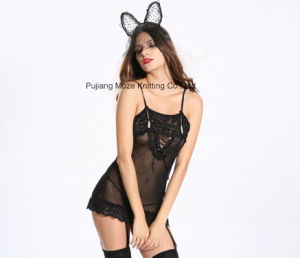 Sexy Cosplay Garment Bunny Girl Dress with Garter Slip pictures & photos