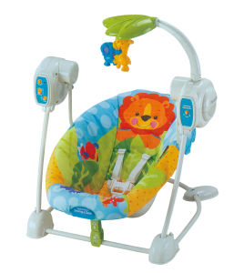 Adjustable Cradle & Soothe Soft Baby Bouncer/ Rocker with Music and Vibration Certification Baby Trace Brand 63514