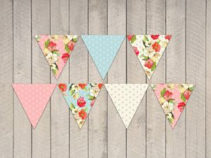 Fabric Banners Bunting Garland Wedding Vinyl Flag and Fabric Bunting