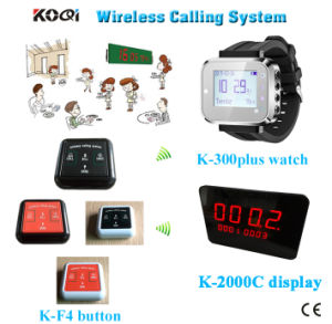 Restaurant Wireless Service Calling System Waiter Buzzer Call Waiter Remote Call Bell Ce Passed pictures & photos