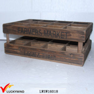 Reclaimed Fir Vintage Storage 12 Bottle Wooden Wine Box pictures & photos