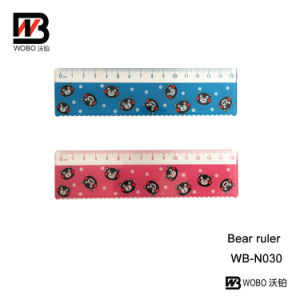 Bear Office Stationery Ruler Made of PS for School Supply