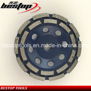 Bestop M14 Double Row Cup Grinding Wheel for Stone pictures & photos