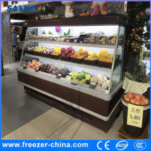 China 25m 3 Shelves Semi Height Open Display Fruit Fridge China