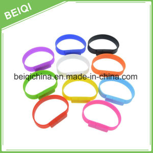 Silicon Wristband USB Watch 2GB, Rubber Bracelet USB 4GB, USB Wristband Flash Drive 2GB pictures & photos