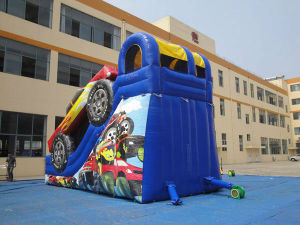 Big Inflatable Racing Car Slide for Kids Playing pictures & photos